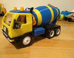 Concrete mixer truck toy fully 3D printable