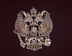 3D print model Russian coat of arms eagle