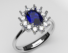 engagement anniversary ring with diamonds fashion 3d