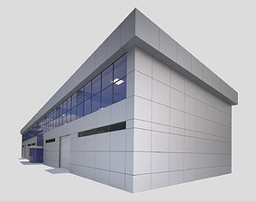 3D asset FACTORY AND OFFICE BUILDING -with interior