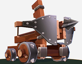 3D model low-poly Handpaint Cartoon Medieval Ballista