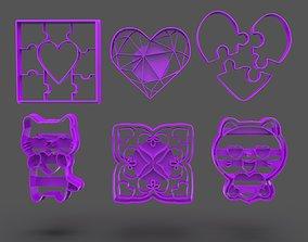 3D printable model San Valentine Cookie Cutter Bundle