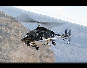 Bell 222 Black 3D model