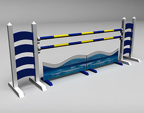 Horse jump obstacle fence 3D