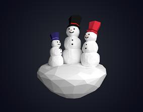 Snow Family 3D asset