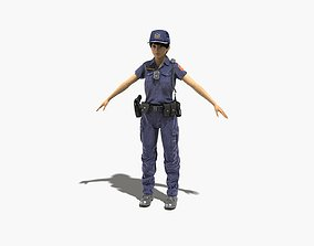 Police Woman 0011 3D