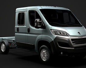 Peugeot Boxer Manager Chassis Truck Crew Cab 3450 WB 3D