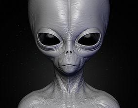 Realistic Alien 5 Sculpt 3D