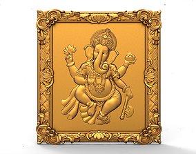 Ganesh wall art 3d stl models for artcam and aspire 1