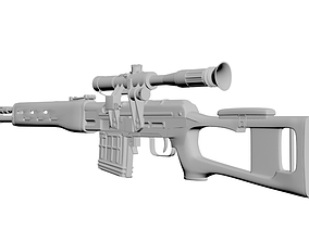 The Dragunov sniper rifle 3D