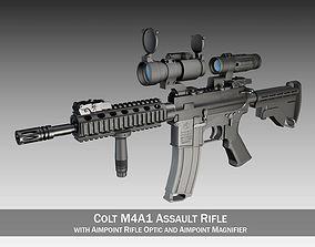 3D Colt M4A1 SOPMOD Aimpoint