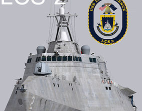 US Navy Littoral Combat Ship LCS-2 Independence 3D