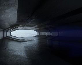 Sci Fi Hangar 3D asset