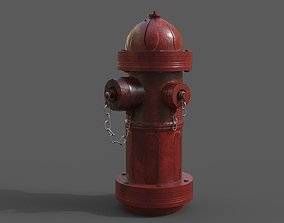 optimized 3D model low-poly Fire Hydrant