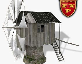 3D model Windmill old