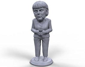 Angela Merkel stylized high quality 3D printable