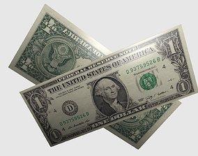 Free One Dollar Bill 3D asset