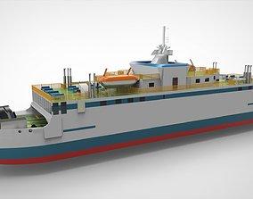 Ferry RoRo 3D model