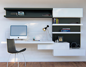 3D Built-in desk 09