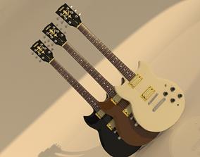 YAMAHA SBG-200 electric guitar 3d model models