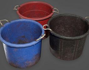 3D model Old Plastic Buckets TLS - PBR Game Ready