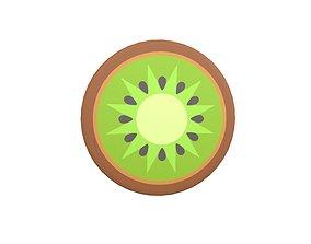 Cartoon Kiwi Slice v1 001 3D model