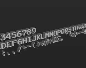 Pixel Text 3D asset