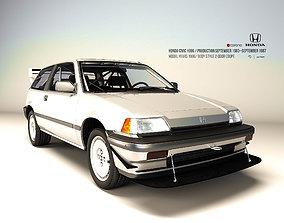 3D asset Honda Civic 1986 Standard-Rallye