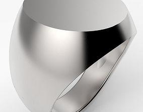 3D print model Oval Top Signet Ring