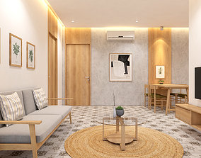 Fully furnished apartment with 3 space - 3D model 1
