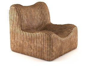 Bazar Bizar WATERHYACINTH Armchair Natural fibre 3D