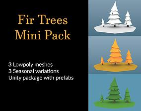 3D asset Fir Trees Mini Pack