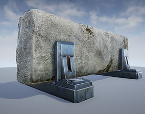 3D asset Sci-fi Roadblock - game model