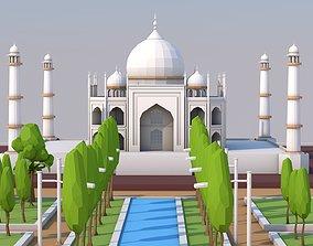 3D asset Low Poly Taj Mahal Landmark