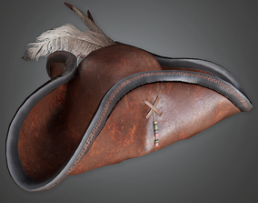 3D asset HAT - Pirate Hat - PBR Game Ready