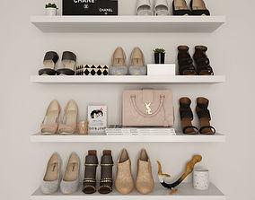 3D Womens shoes woman