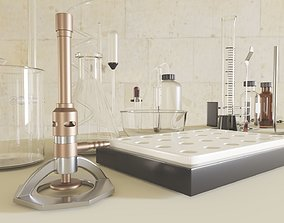 Chemistry equipment 3D asset VR / AR ready