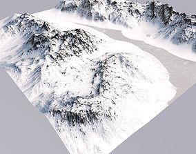 3D model Snowy Terrain MT048