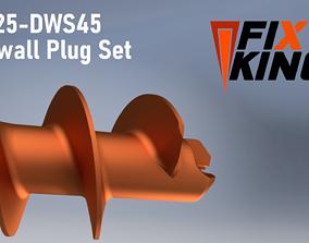 DW25-DWS45 Drywall Plug Set by FIXKING 3D printable model
