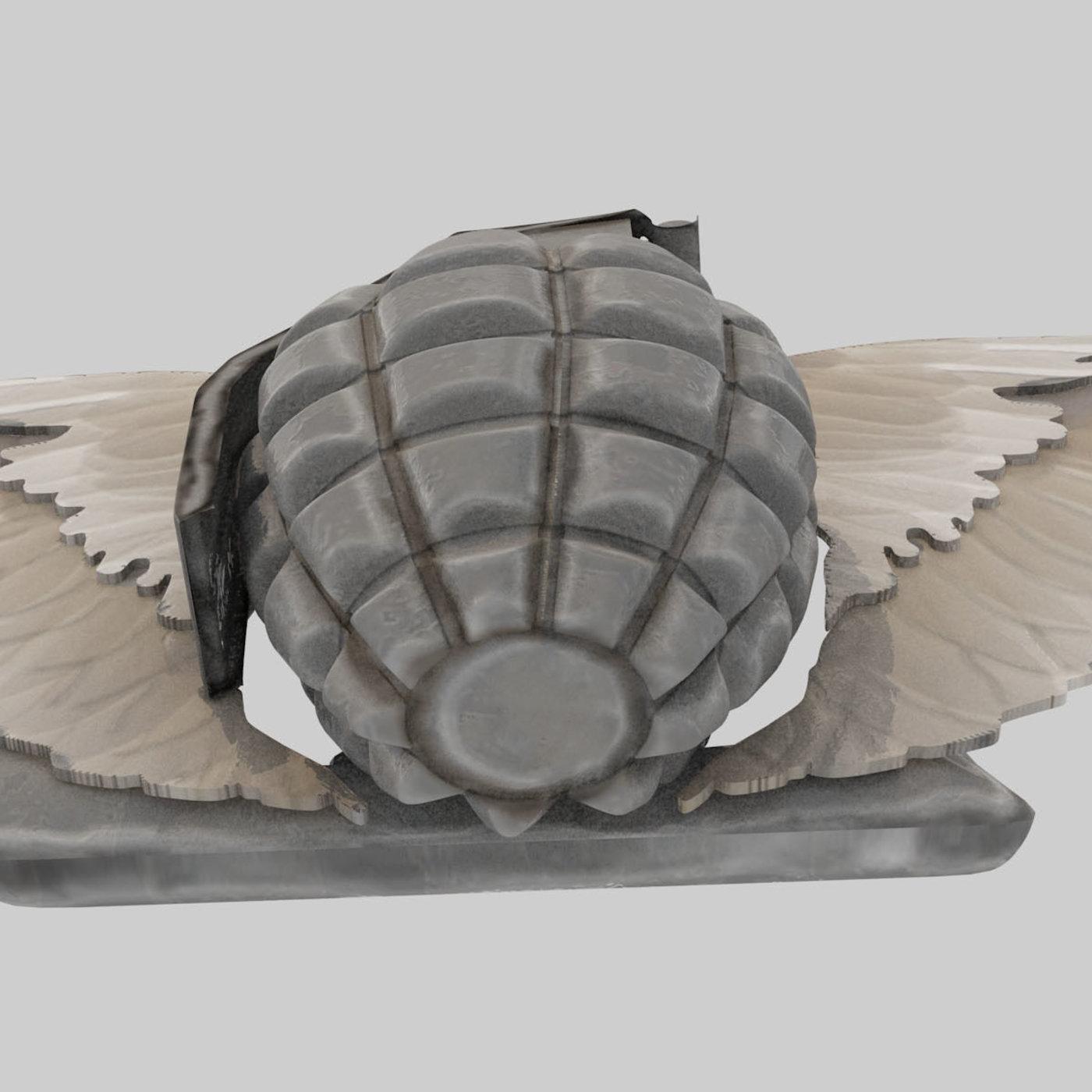 Cool Hand Grenade Belt Buckle