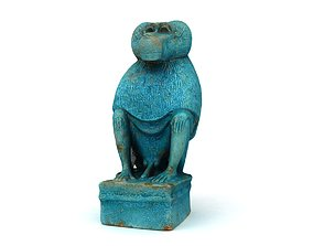 3D Egyptian god Thoth baboon Moon God Thoth