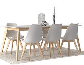 3D Dining furnitures set 04
