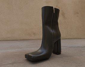 3D asset Woman black ankle boots