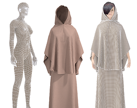 rigged 3D CHARACTER WITH arabian cloth