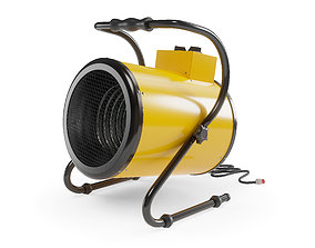 Electric Industrial Space Heater Workshop 3D asset 2