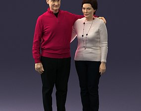 3D Elderly couple 0033