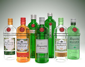 3D Tanqueray - Collection - Bottles Bundle Pack