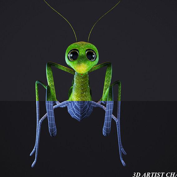 cartoon mantis