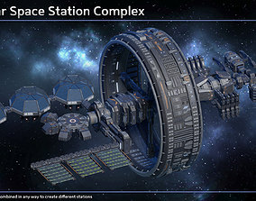 3D Space Station Structures Collection