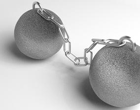 3D model Cannonball - Chain-shot